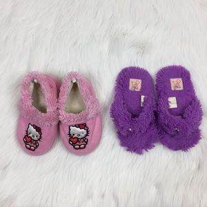 Other - Slipper House Shoes Bundle Little Girl Size 11